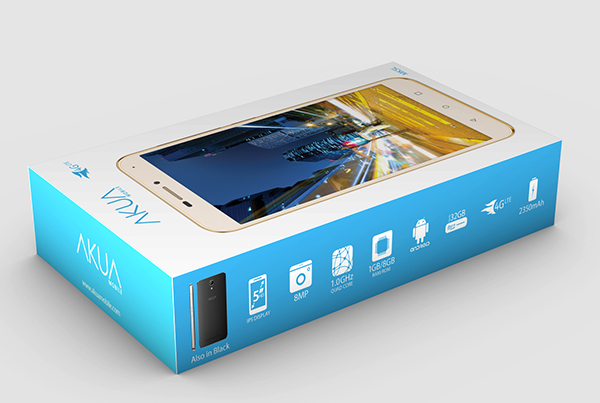 AKUA Mobile<br>Smartphone Packaging Design
